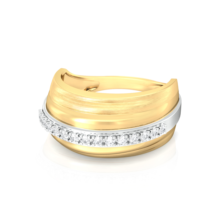 Sun Stripes Diamond Rings