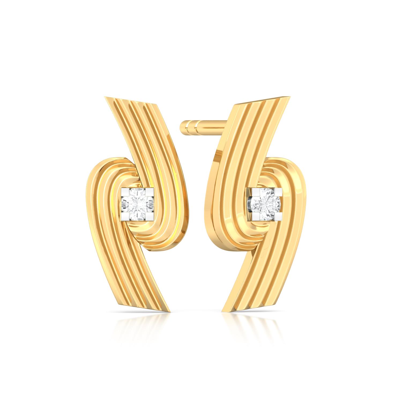 Spiral Star Diamond Earrings