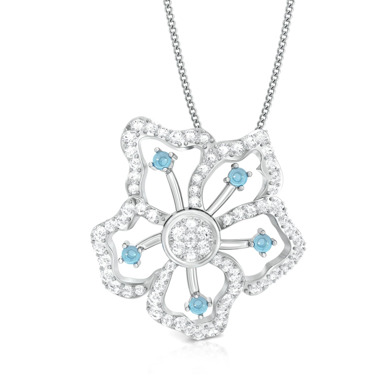 Periwinkle Blues Diamond Pendants