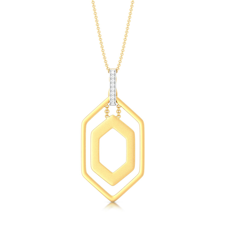 Hexa Frame Diamond Pendants