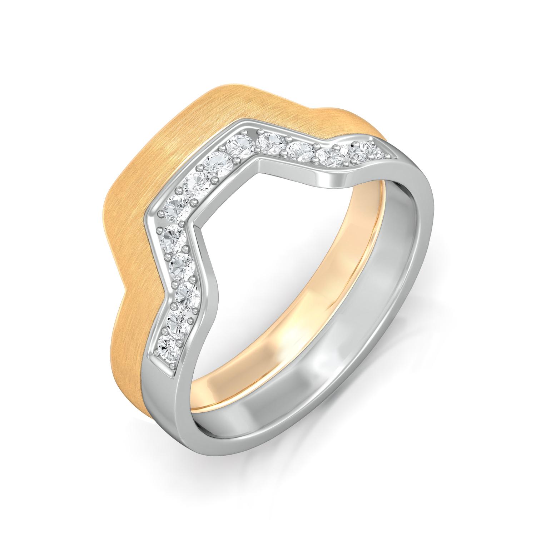 Flirty 70s  Diamond Rings