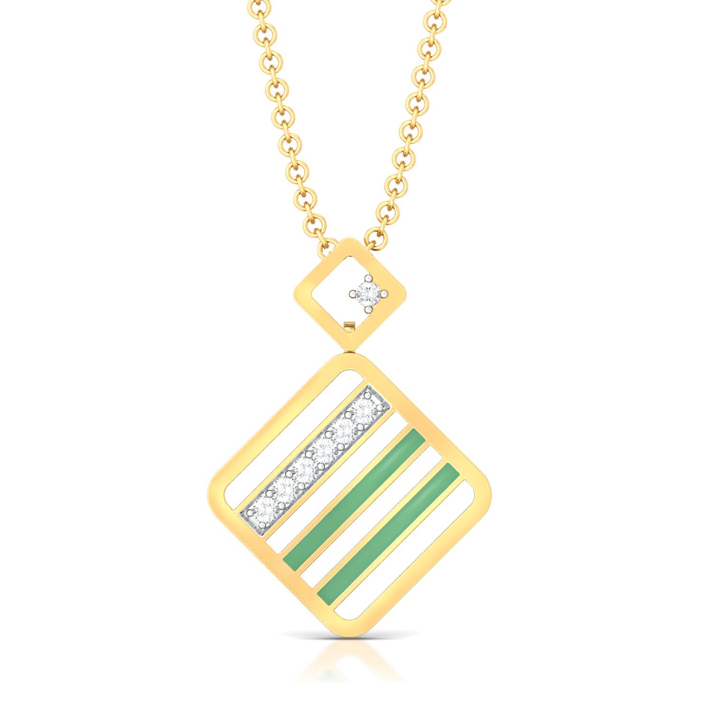 Hint Of Mint Diamond Pendants
