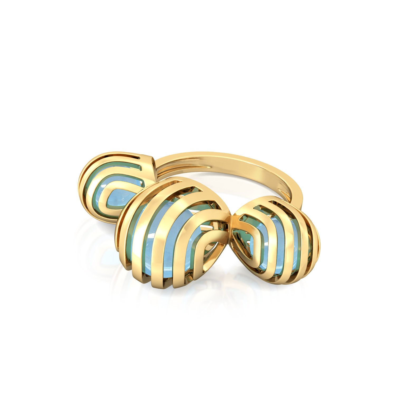 Wavy Blue Gemstone Rings
