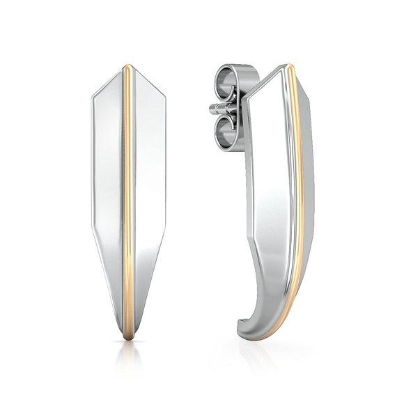 Knife edge  Gold Earrings