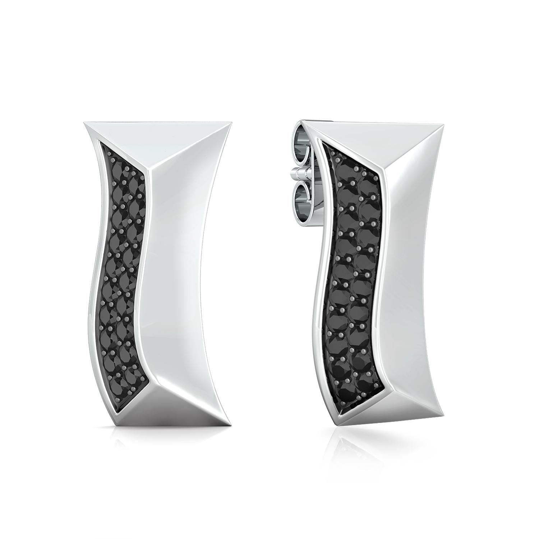 Black glam Diamond Earrings