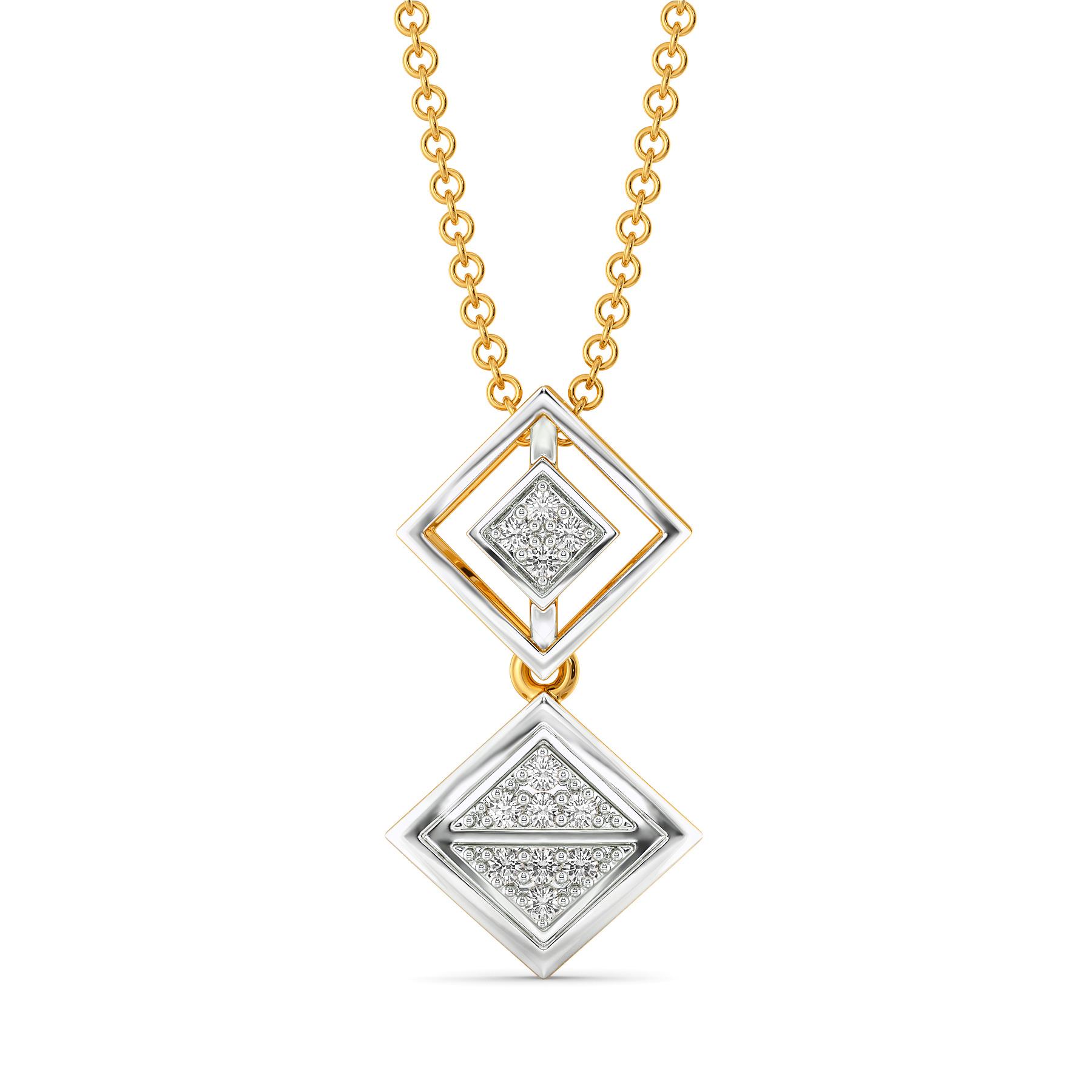 Strap Staple Diamond Pendants