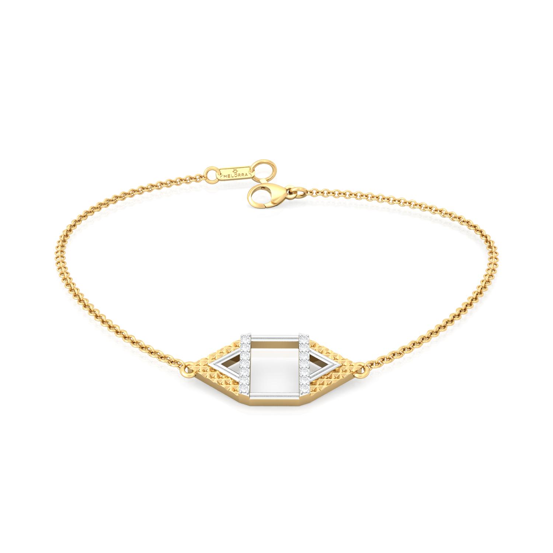 Pyramid Play Diamond Bracelets
