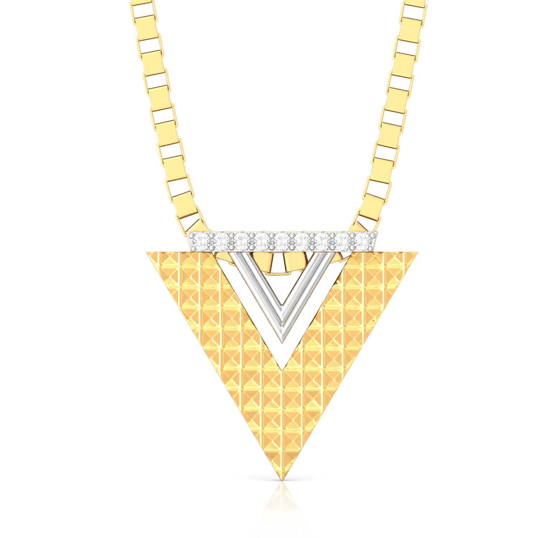 Pyramid Play Diamond Pendants