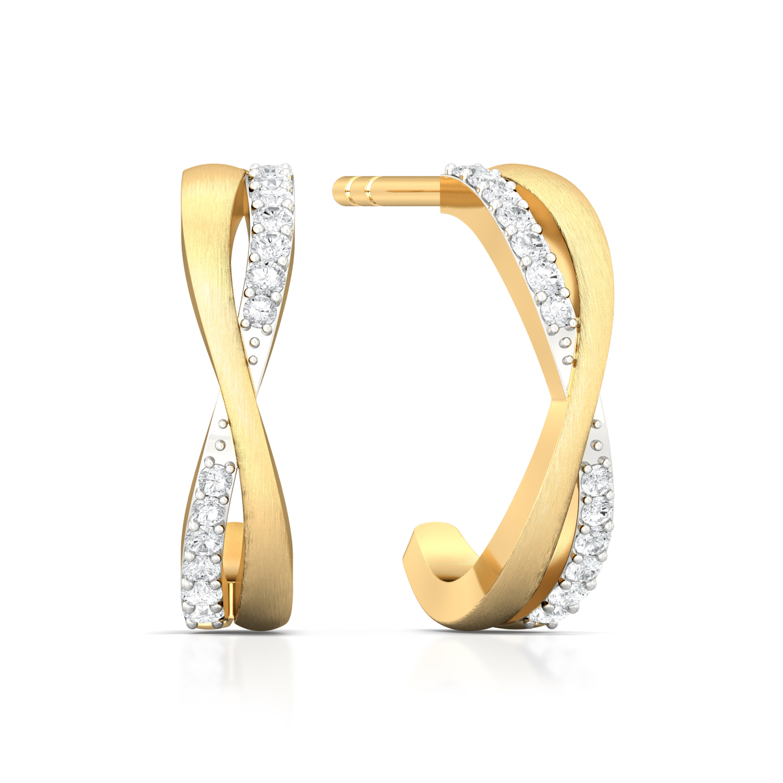 Entwined Spirit Diamond Earrings