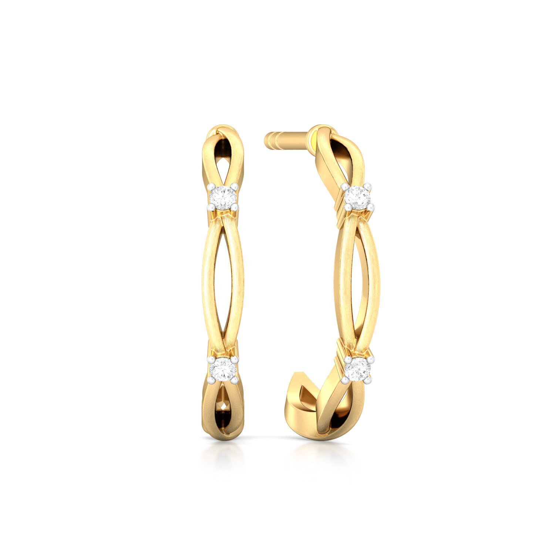 Celtic Charm Diamond Earrings