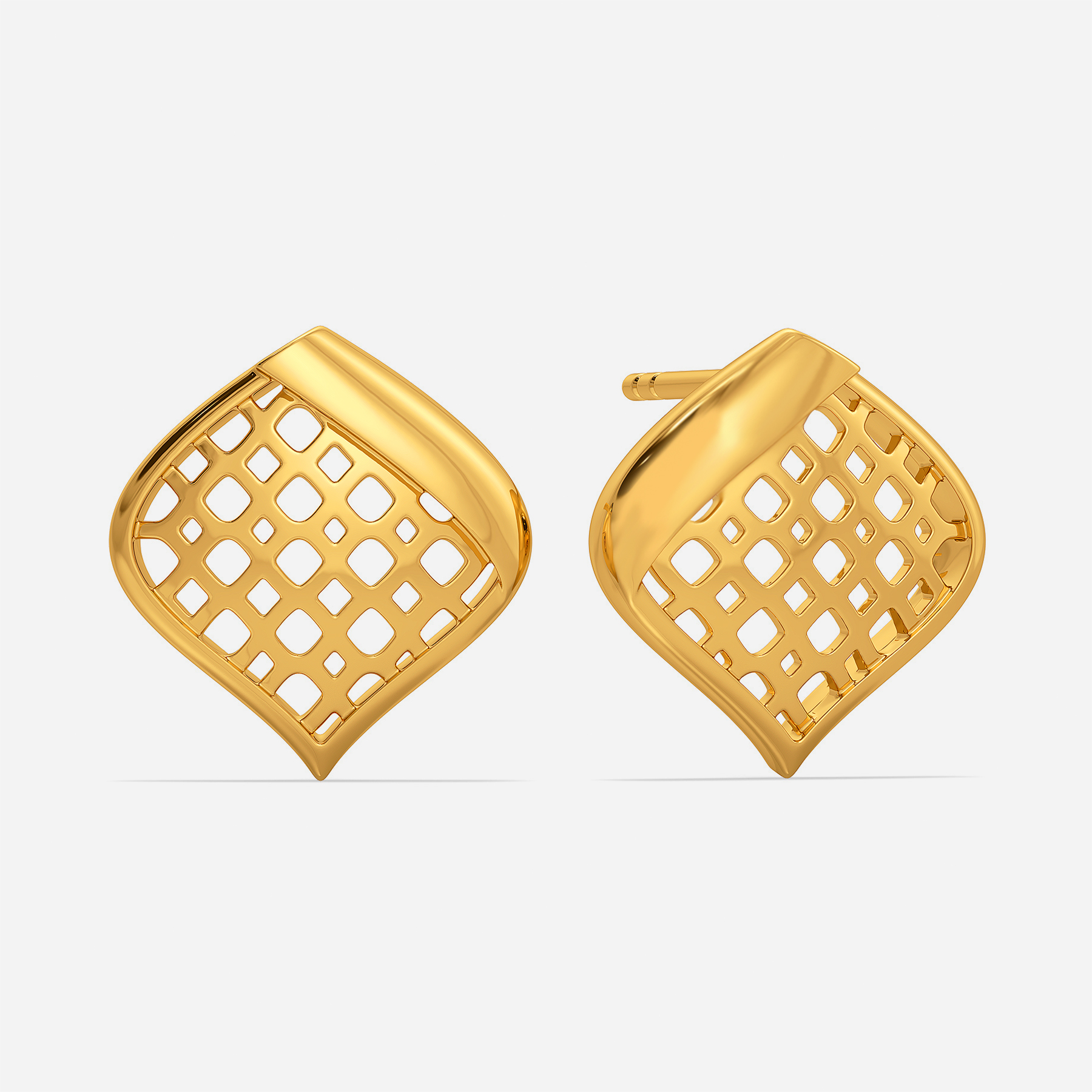 Dramatic Flows Gold Earrings