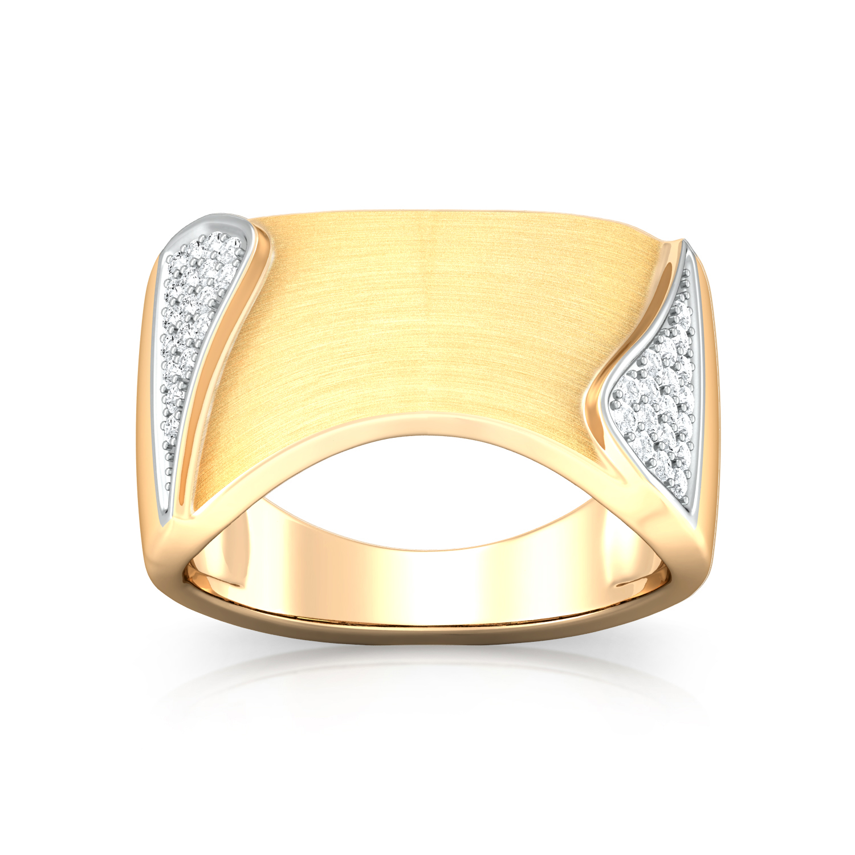 Shiny Shield Diamond Rings