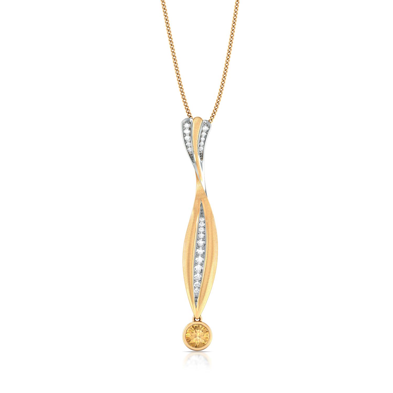 Citrus Gild Diamond Pendants