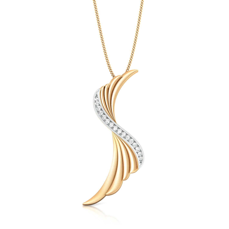 Ruffled Bow Diamond Pendants