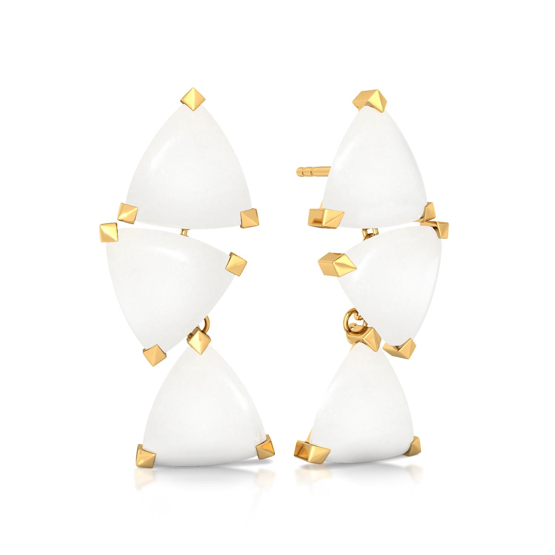 White Ibis Gemstone Earrings