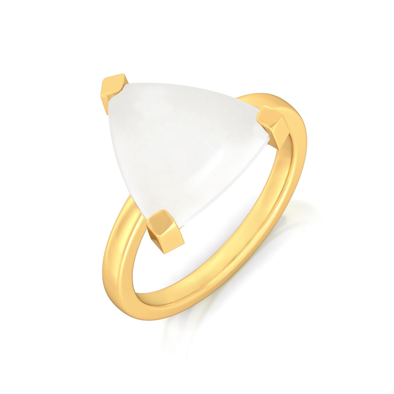 White Ibis Gemstone Rings