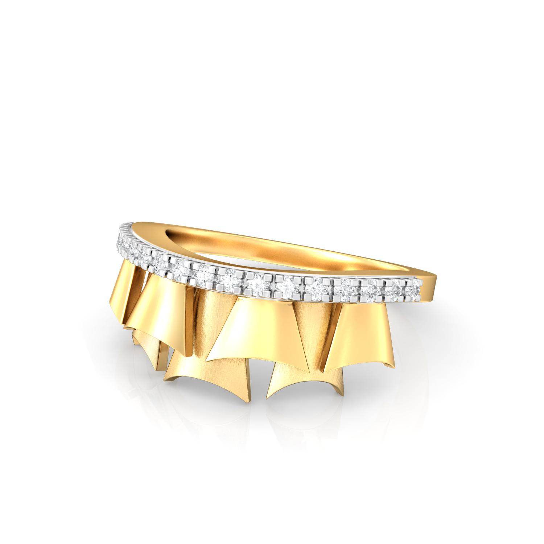 School Girl Ruffles Diamond Rings