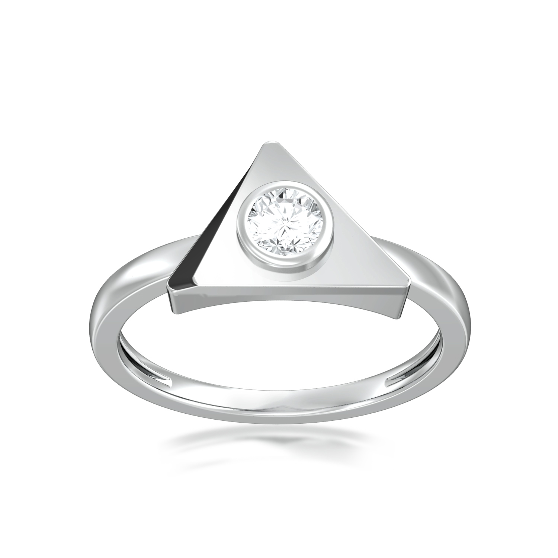 Beveled black  Diamond Rings