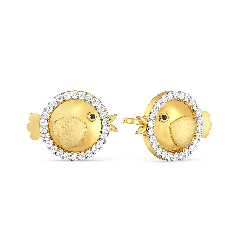 Chick Trick Diamond Earrings