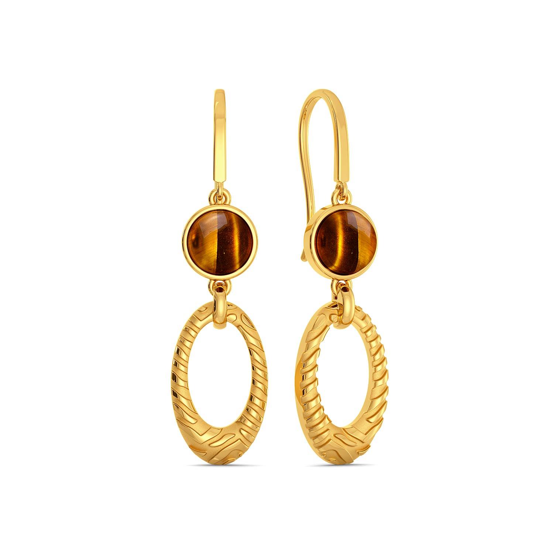 Tiger Point Gemstone Earrings