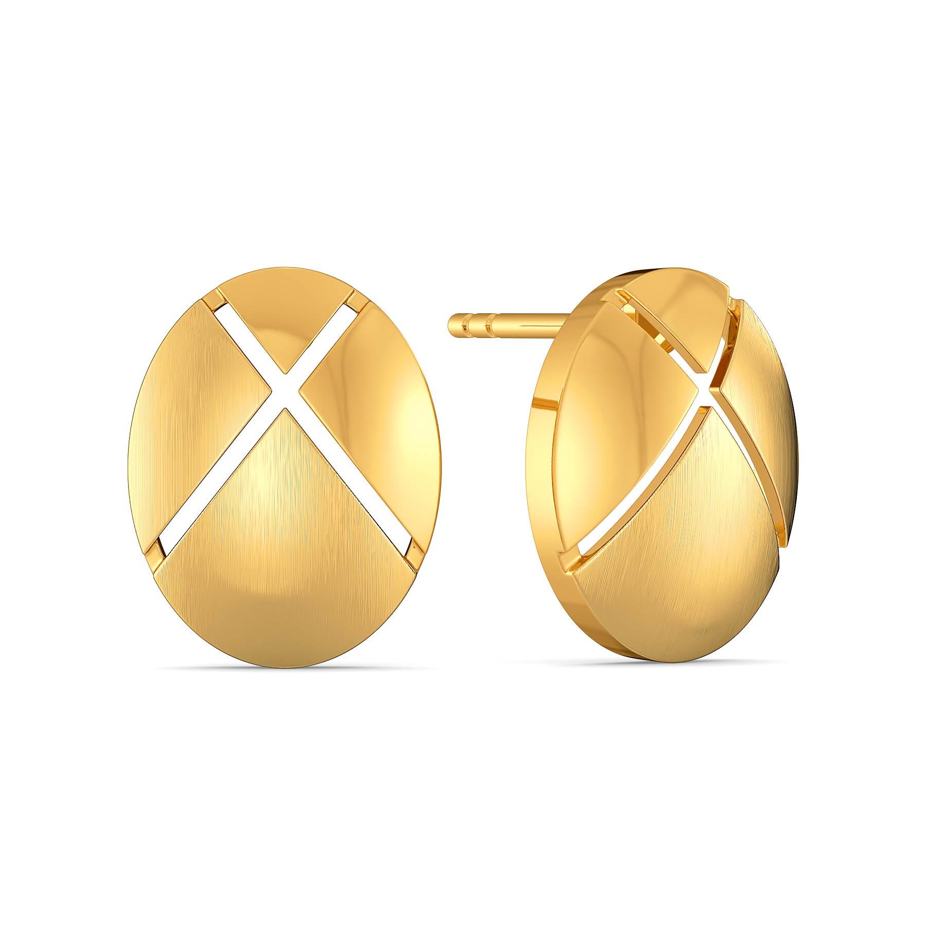 Bonjour Style Gold Earrings