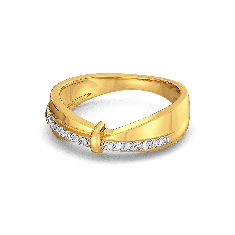 Cross Bows Diamond Rings
