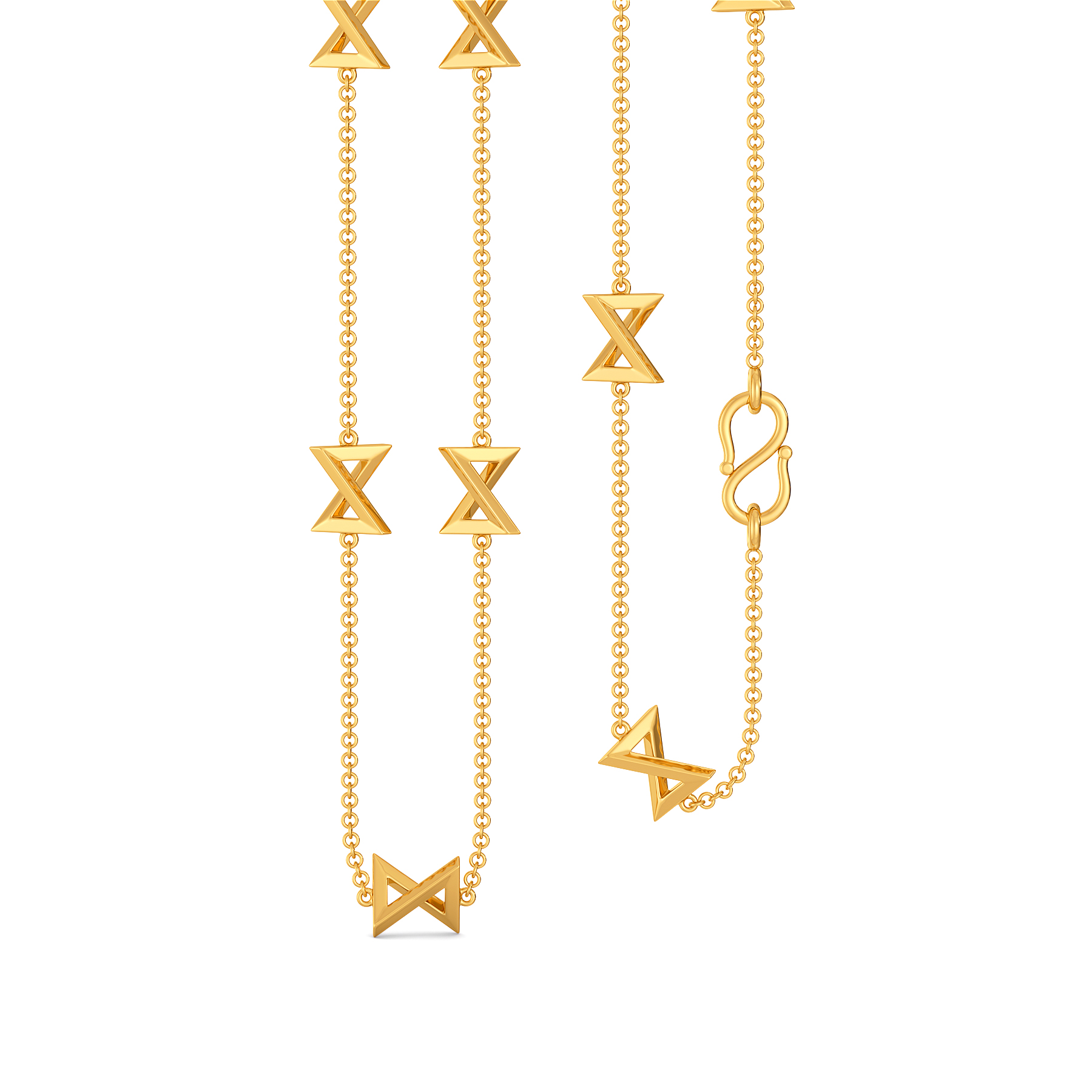 Bow Burrows Gold Chains