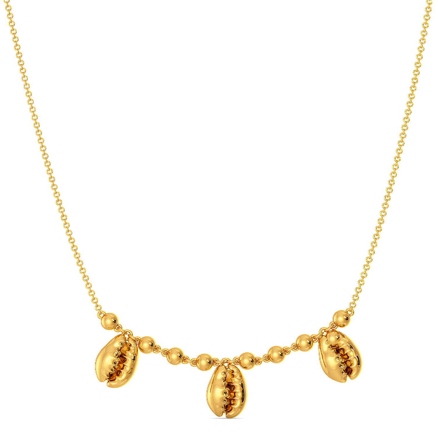 Shell Shocks Gold Necklaces