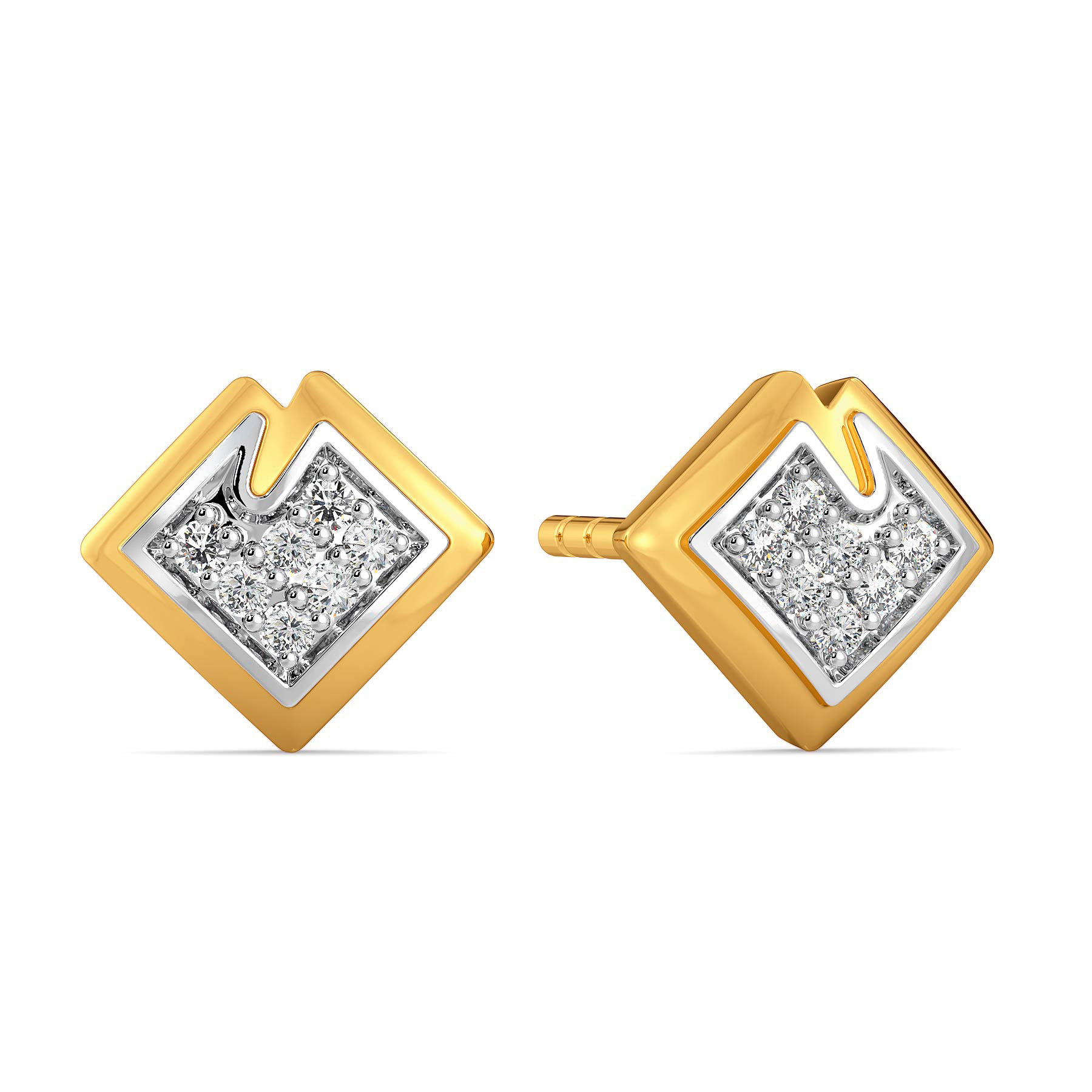 Stun A Fern Diamond Earrings