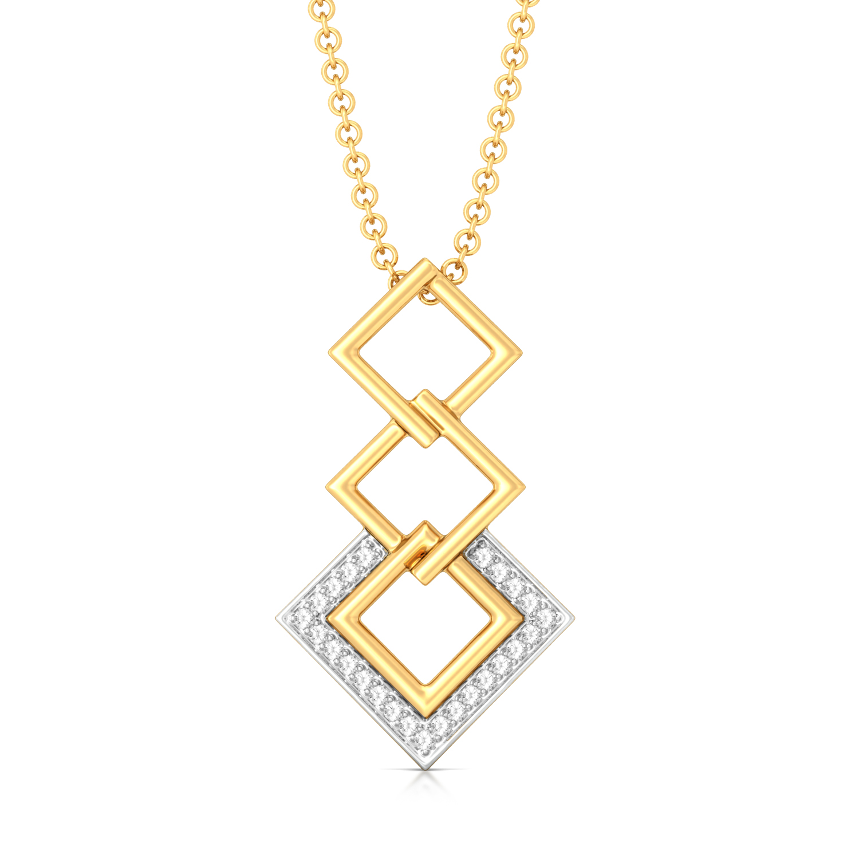 Squared away Diamond Pendants