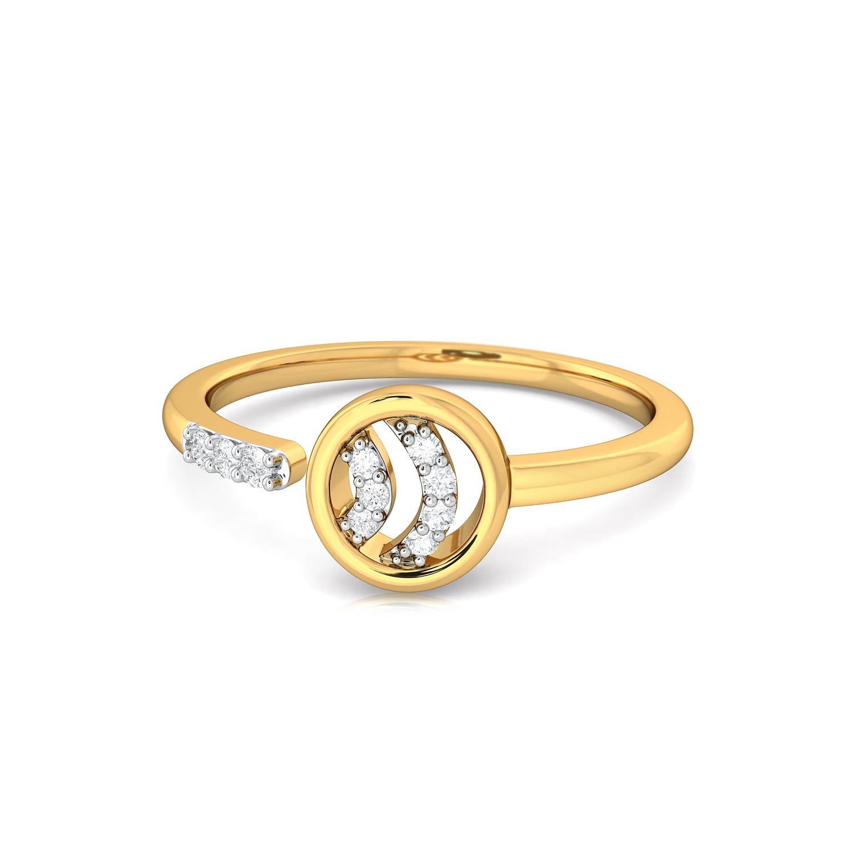 Ripple Round Diamond Rings