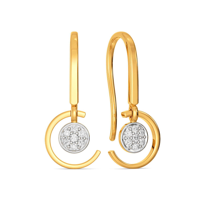 C Quins Diamond Earrings
