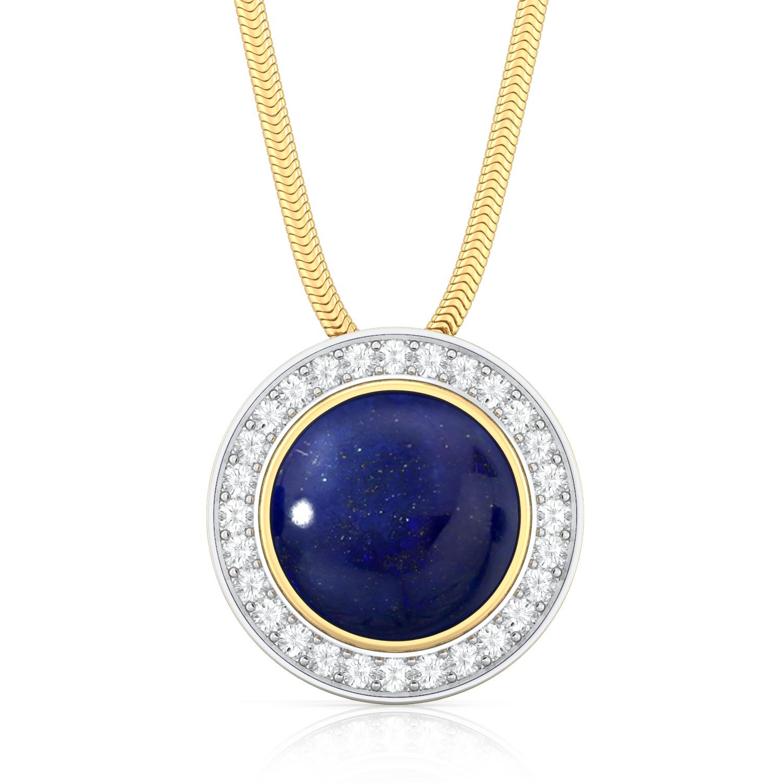 Fiery Blue Diamond Pendants