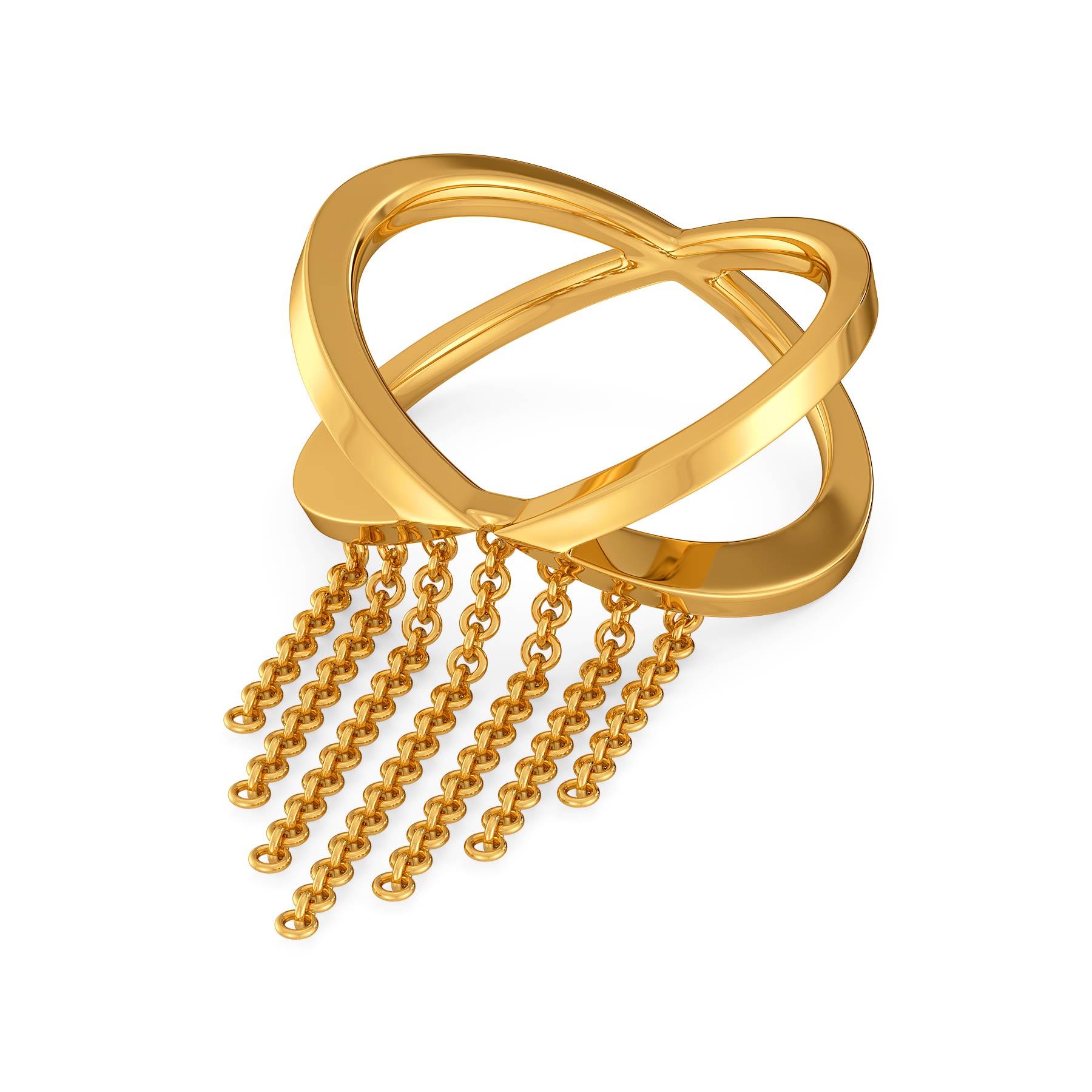 Fringe It Up Gold Rings