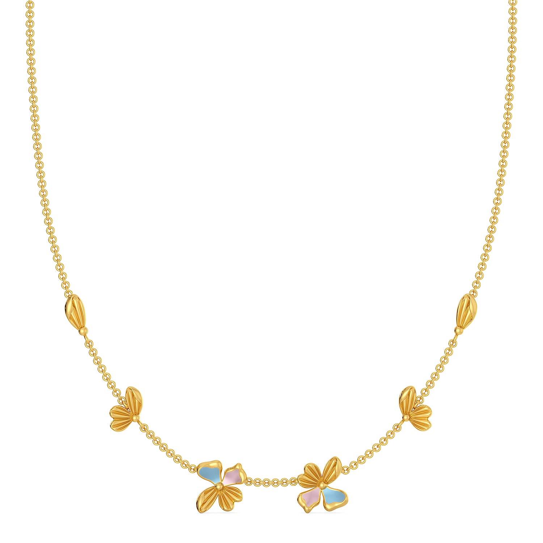 La Flor Gold Necklaces