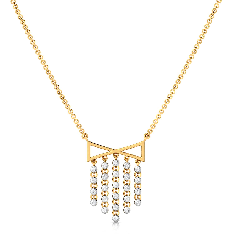 Dangle Triangle Diamond Necklaces