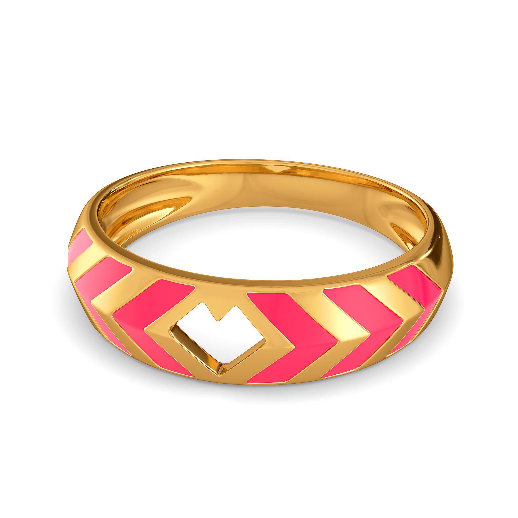 Fuscia Fondness Gold Rings