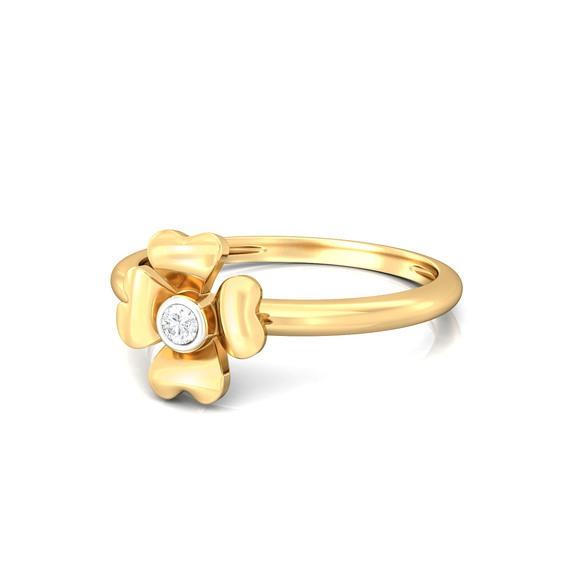Four-petal Diamond Rings