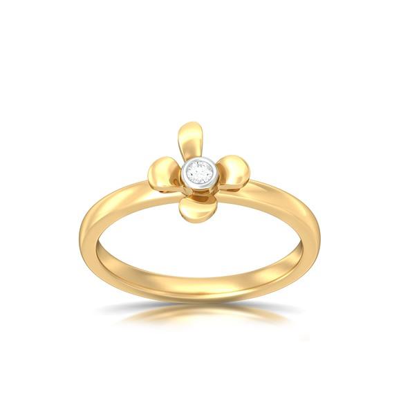 Sweet Floral Diamond Rings