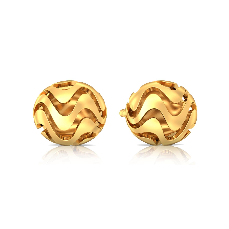 Moon Tide  Gold Earrings