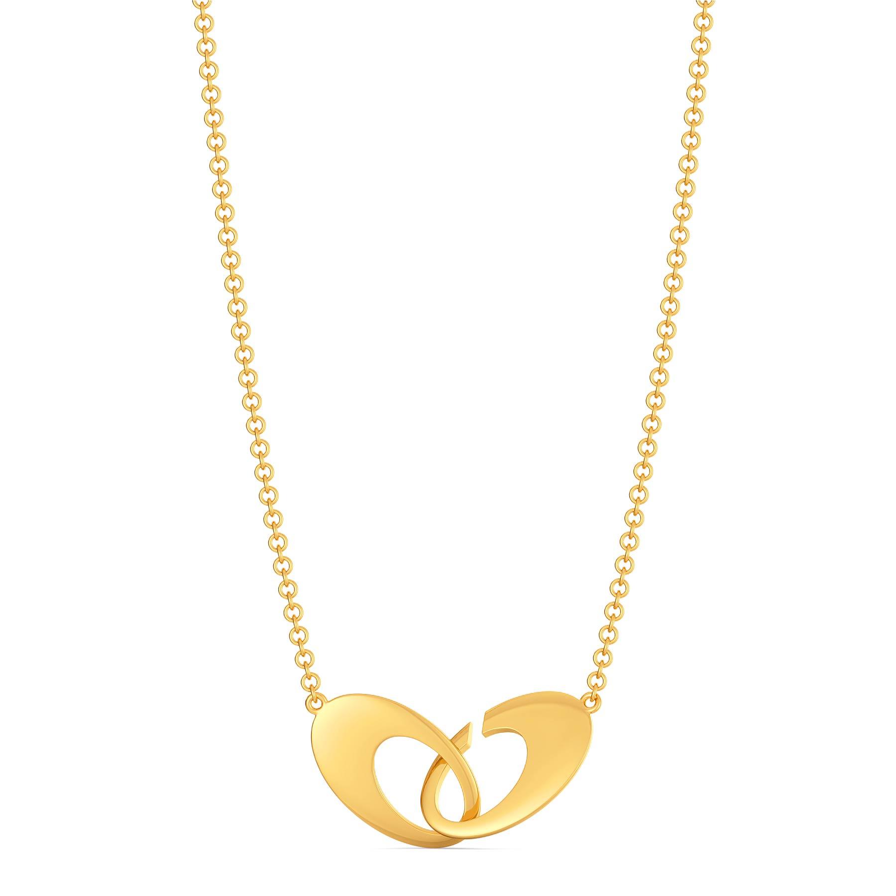 Torus Tie Gold Necklaces
