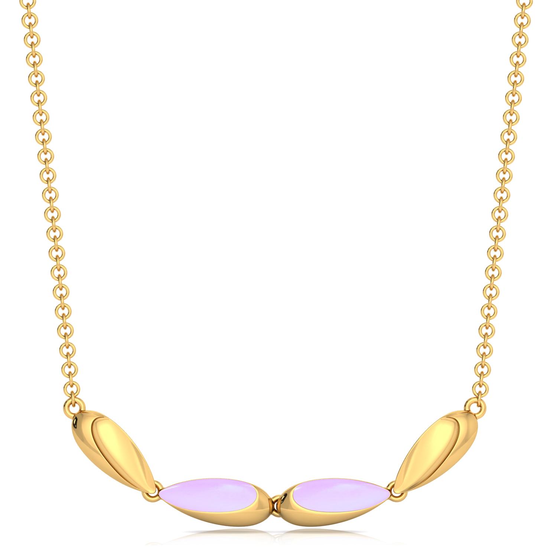 Mauve Lite Gold Necklaces