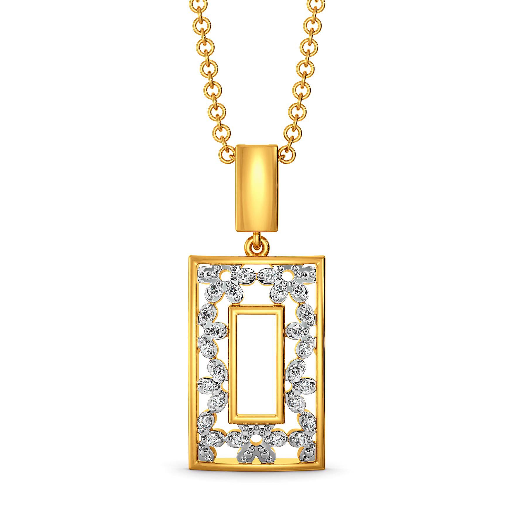 Lace Line Up Diamond Pendants