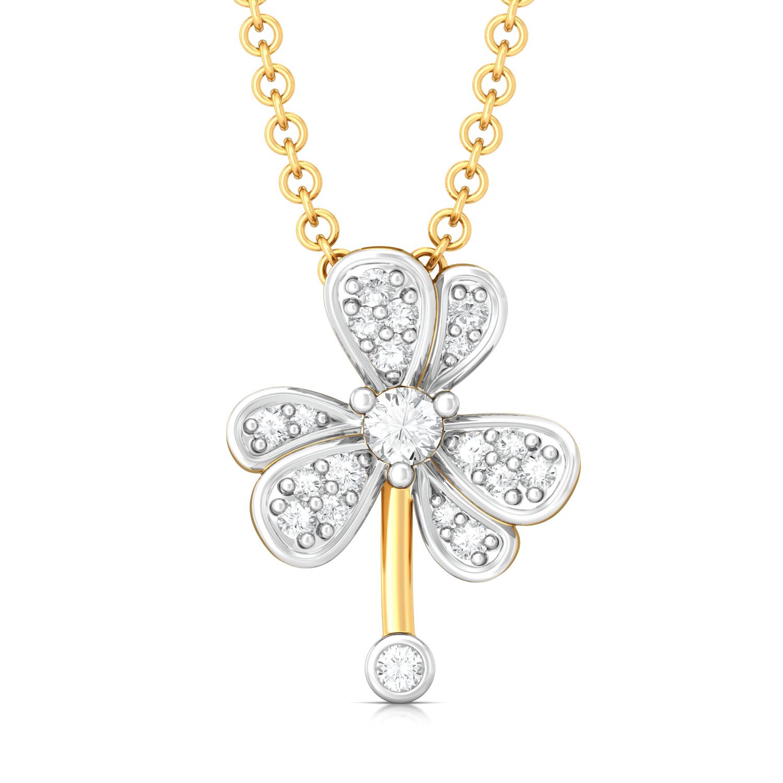 Treble Corsage  Diamond Pendants