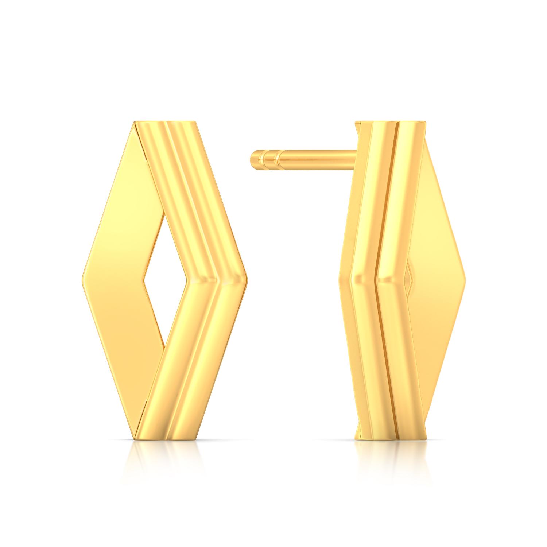 Simplistic Grace Gold Earrings