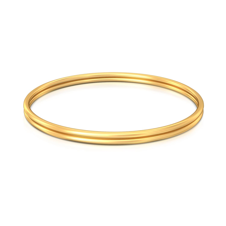 Double Decker Gold Bangles