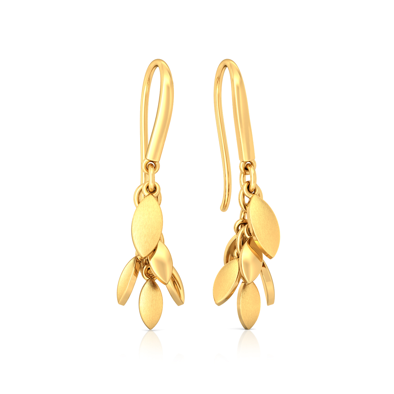 Floral Chimes Gold Earrings