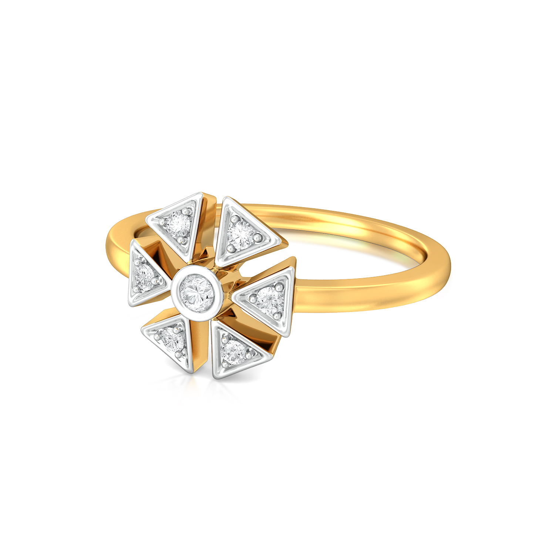 Flaunt Floret  Diamond Rings