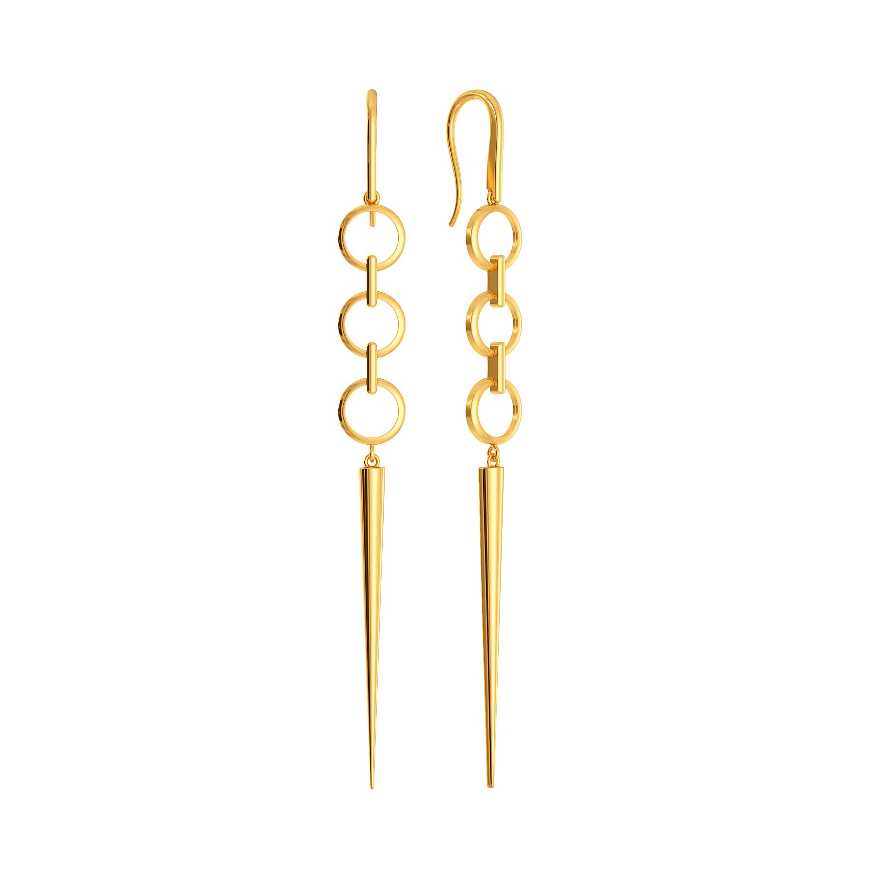 Twist N Tassel Gold Earrings