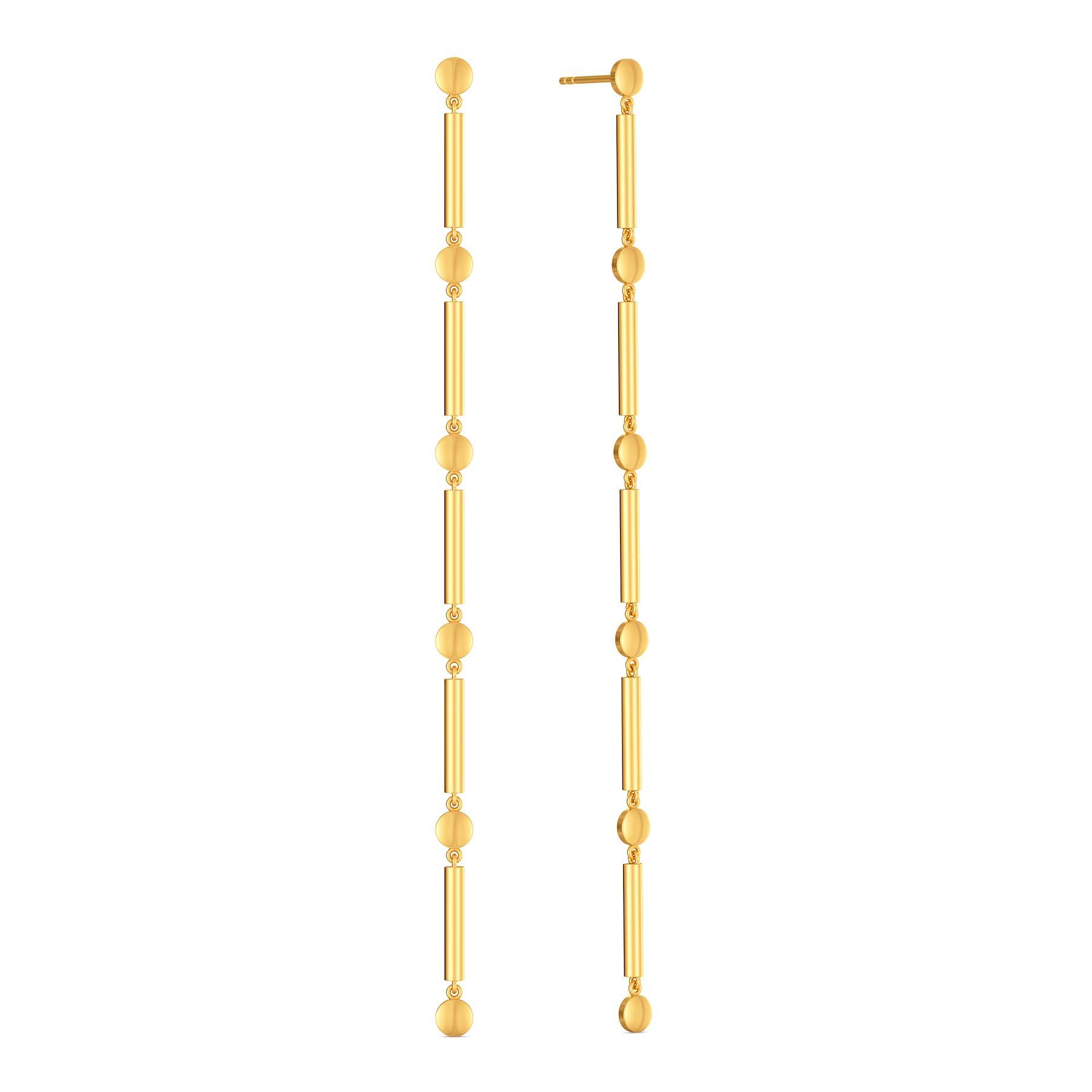 Dangle Drops Gold Earrings